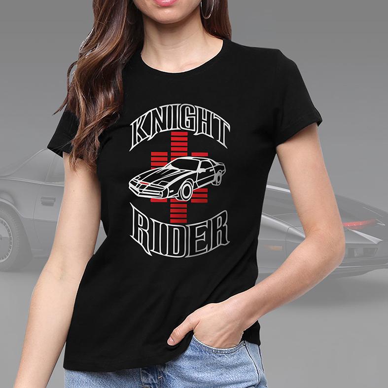 Camiseta Feminina Unissex Knight Rider Car (Preta) - EV