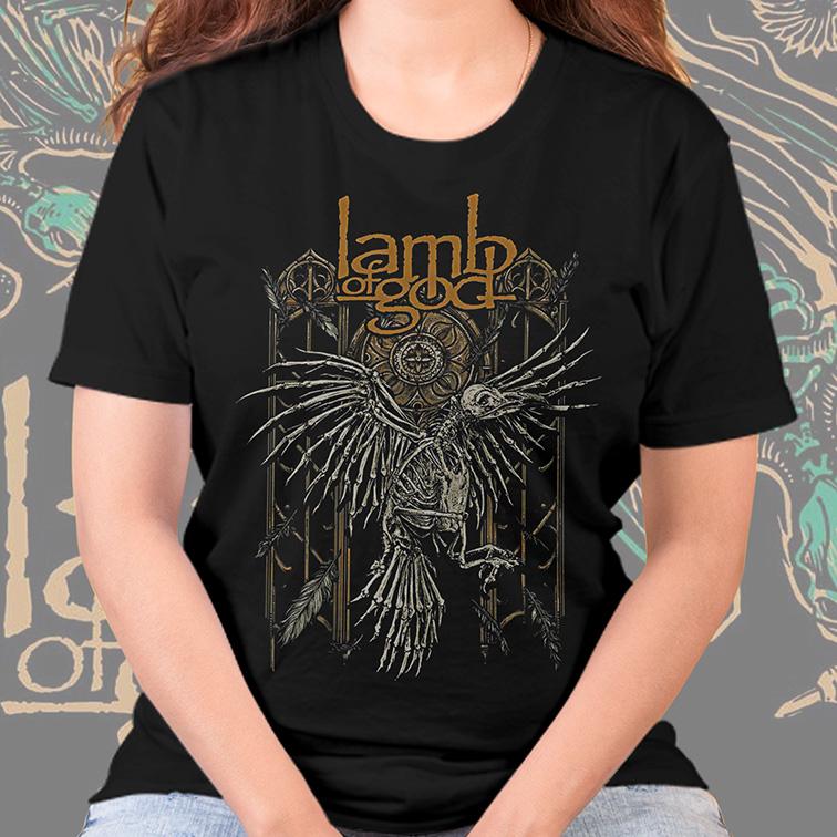 Camiseta Feminina Unissex Lamb Of God Heavy Metal (Preta) - EV