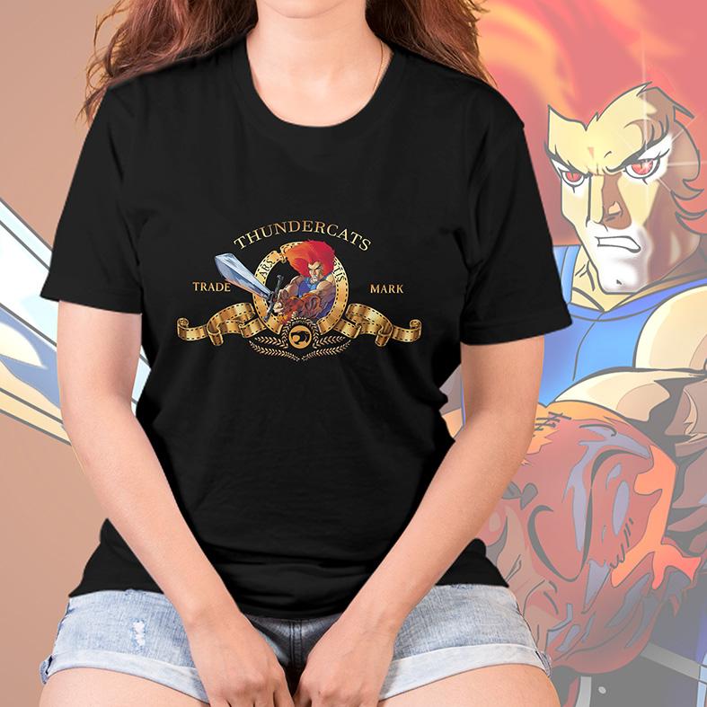 Camiseta Feminina Unissex Metro Goldwyn Mayer Lion Thundercats Espada Justiceira (Preta) - EV