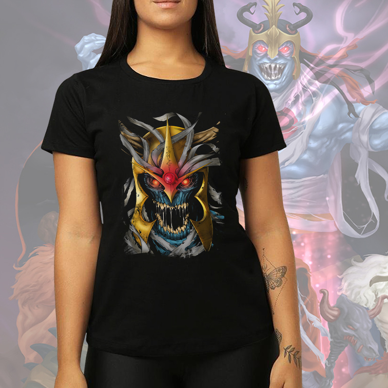 Camiseta Feminina Unissex Mumm-Ra Supervilão: ThunderCats (Preta) - EV