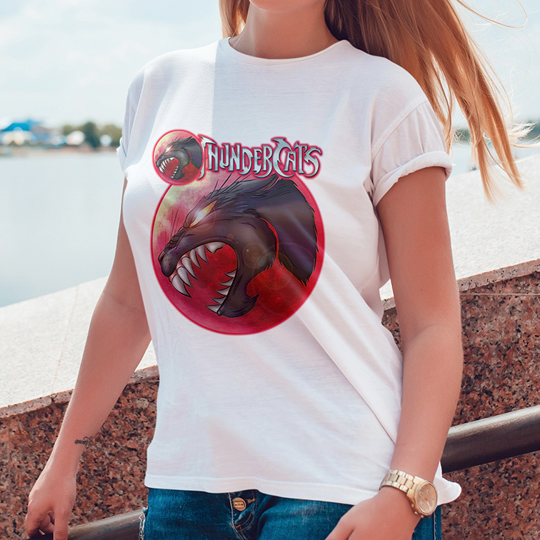 Camiseta Feminina Unissex Olho De Thundera: Thundercats (Branca) - EV