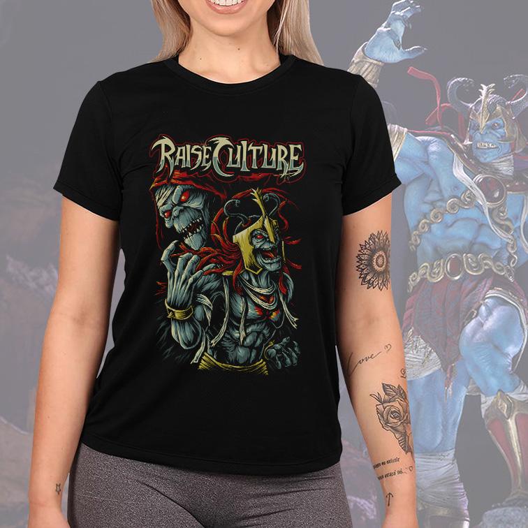 Camiseta Feminina Unissex Raise Culture Mumm-Ra Supervilão: ThunderCats (Preta) - EV