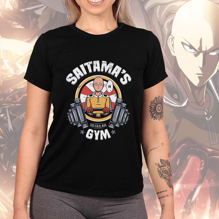 Camiseta Feminina Unissex Saitama's GYM Regular (Preta) - EV