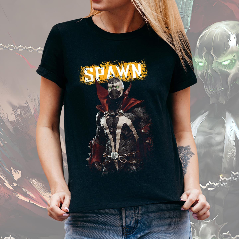 Camiseta Feminina Unissex Spawn Soldier Of Hell: Spawn Mortal Kombat Wiki (Preta) - EV