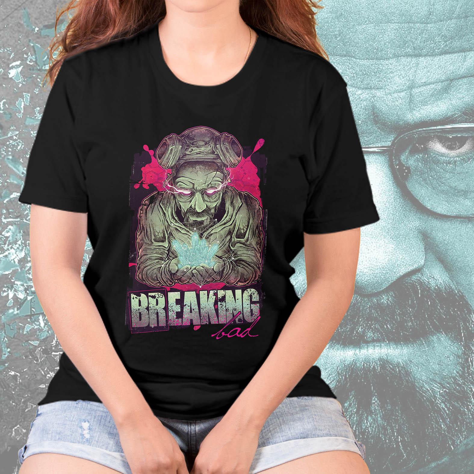 Camiseta Feminina Unissex Sr Walter White: Breaking Bad (Preta) - EV