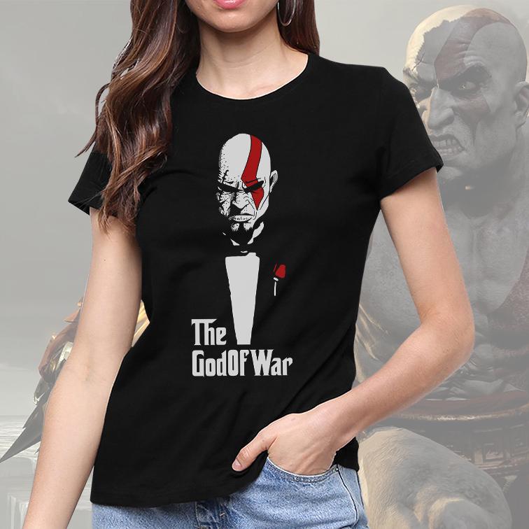 Camiseta Feminina Unissex The GodOfWar Kratos The Godfather (Preta) - EV