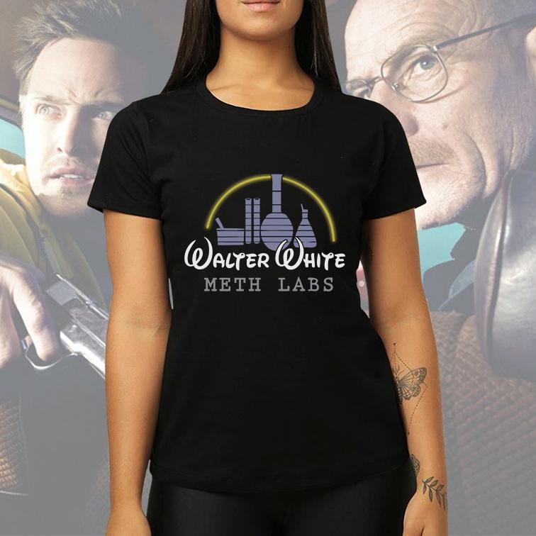 Camiseta Feminina Unissex Walter White Meth Labs Breaking Bad Disney (Preta) - EV