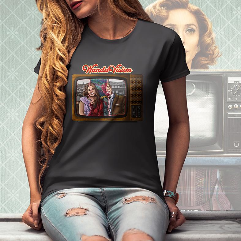 Camiseta Feminina Unissex WandaVision Marvel Television TV Disney+ (Cinza Chumbo) - EV