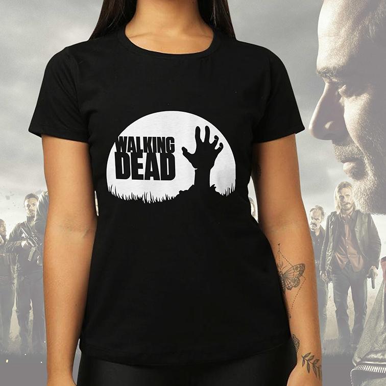 Camiseta Feminina Unissex Zombie: The Walking Dead (Preta) - EV