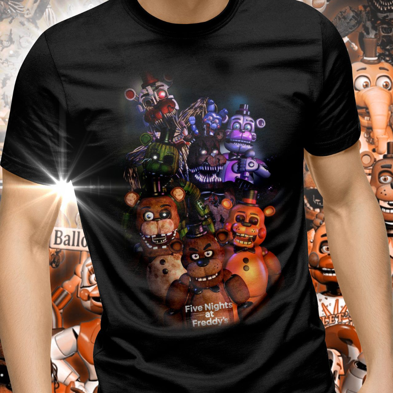 Camiseta Unissex Five Nights at Freddy's (Modelo 3) - Exclusiva ToyShow