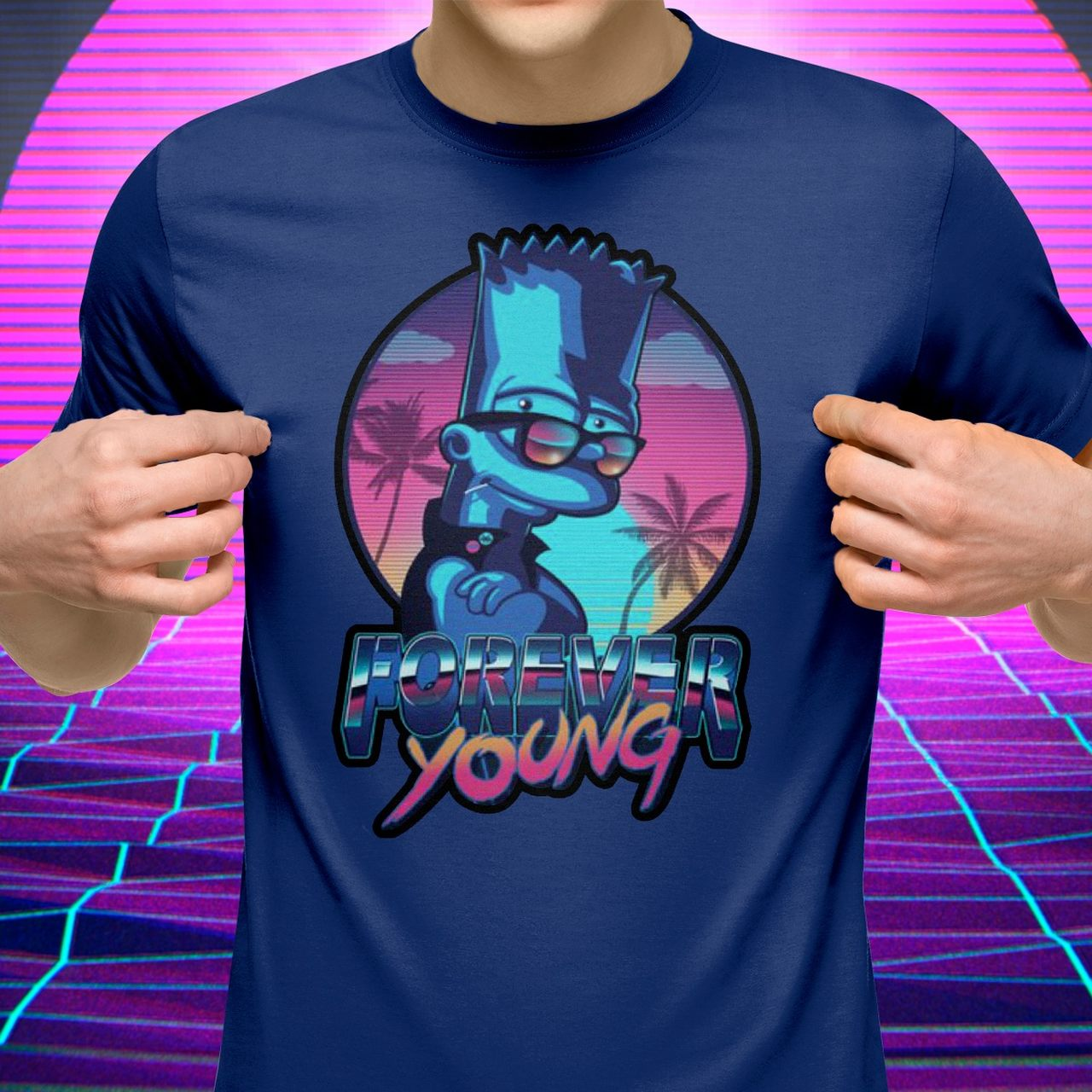 Camiseta: '' Forever Young '' ( Os Simpsons )