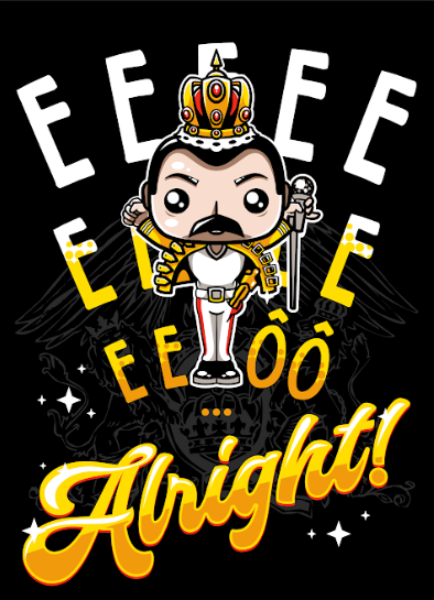 Camiseta Freddie Mercury (Wembley): Queen - Exclusiva Toyshow