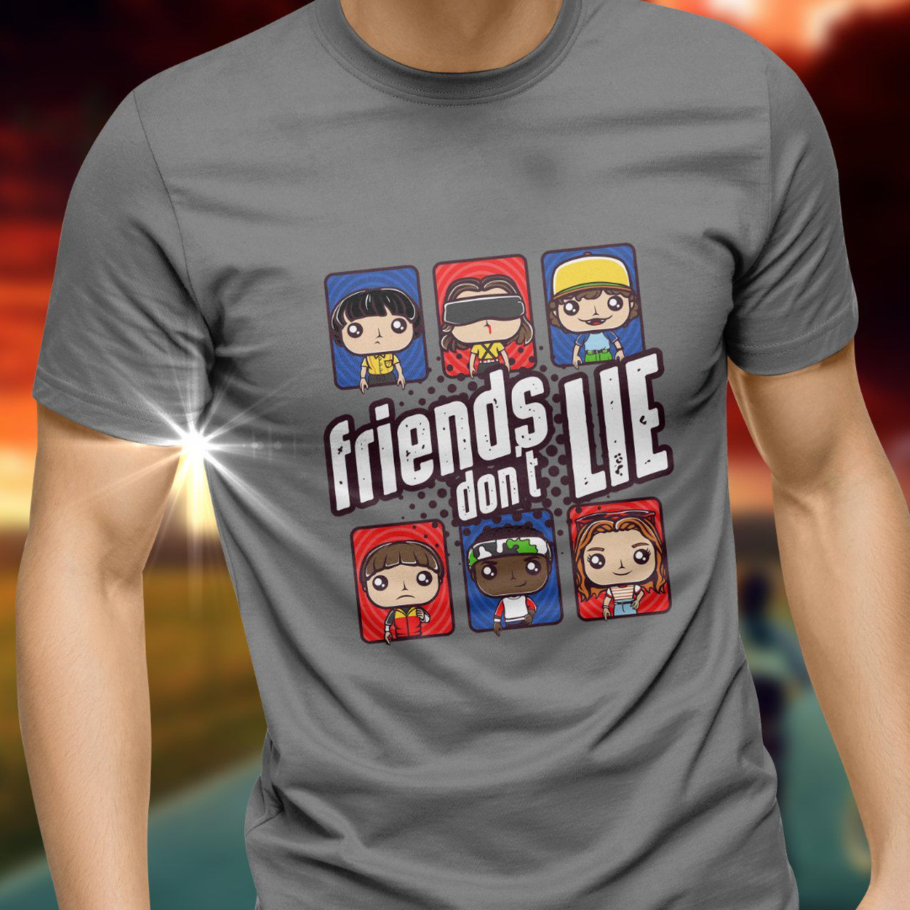 Camiseta Friends Don't Lie: Stranger Things - Toy Show