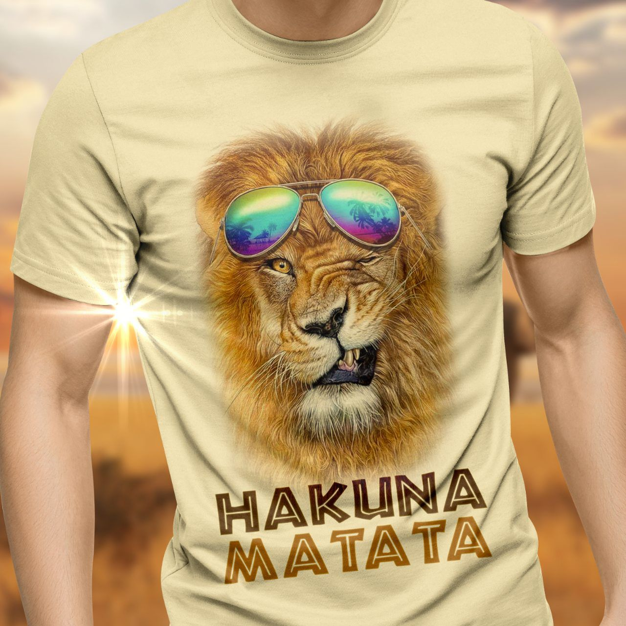 Camiseta Hakuna Matata: O Rei Leão (The Lion King) Serie Art Premium - Exclusiva Toyshow