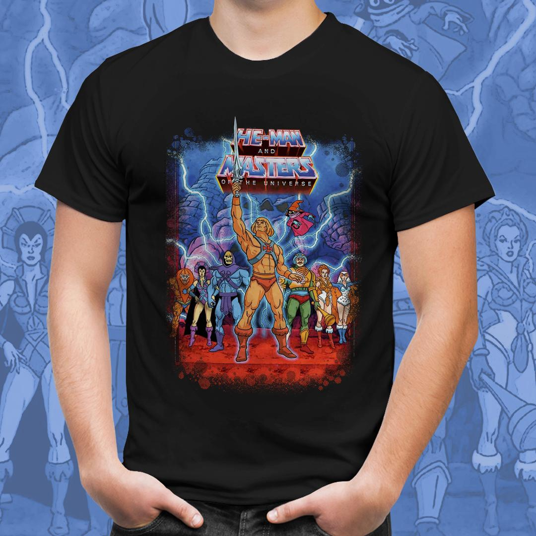 Camiseta He-Man Masters (Preto)