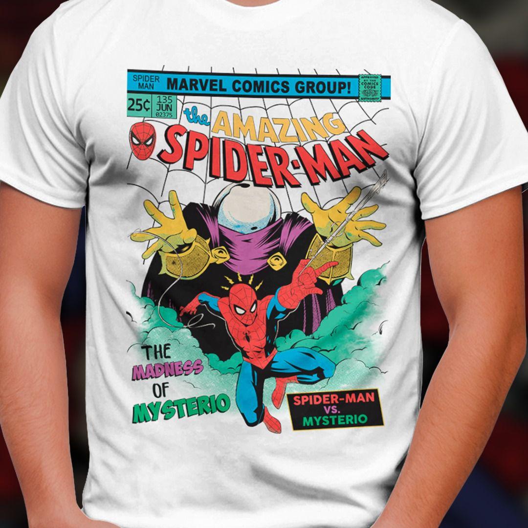 Camiseta Homem-Aranha Vs Mysterio (Spider-Man Vs Mysterio): Marvel Comics - Toy Show