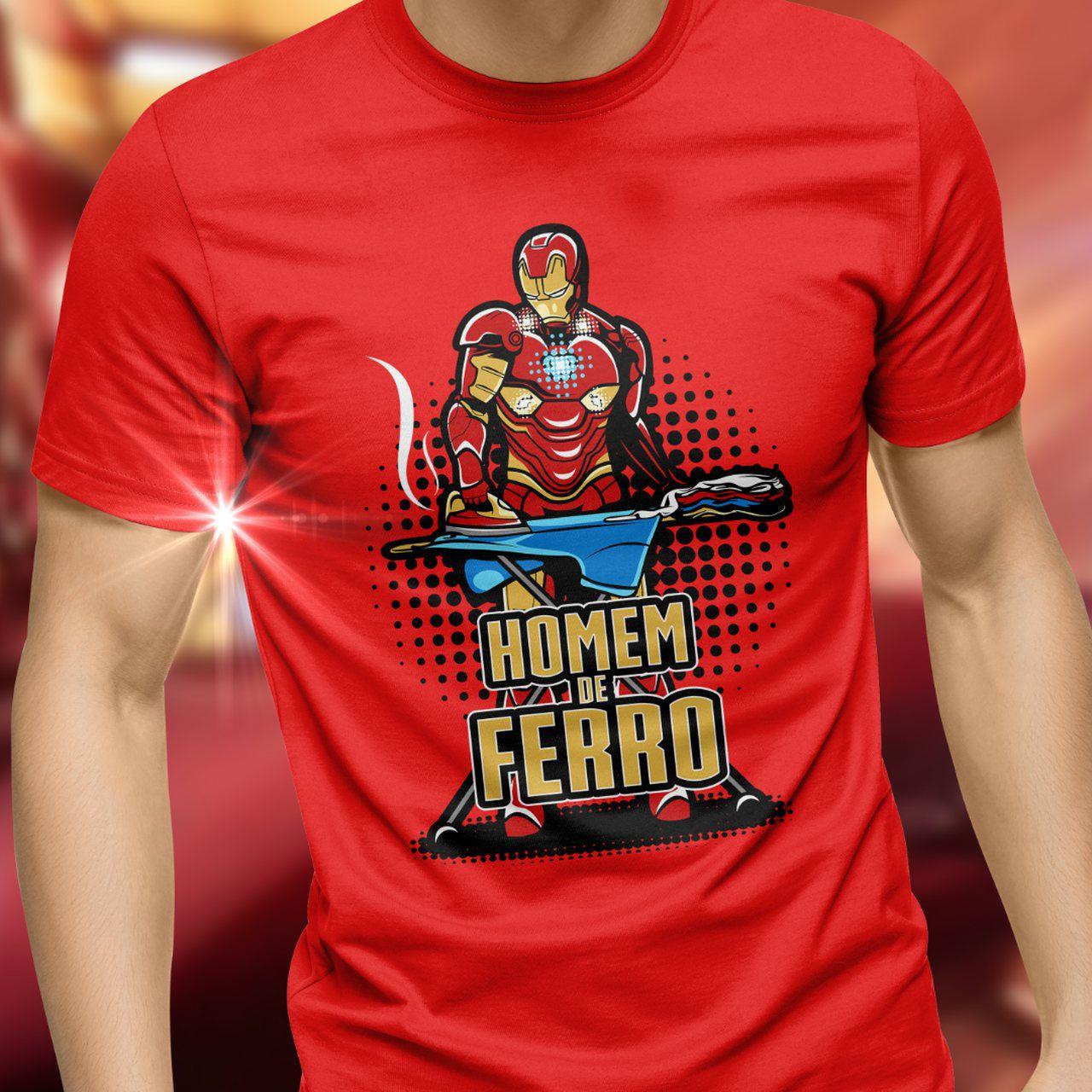 """Camiseta Unissex """"Homem Com Ferro"""": Marvel Comics - Exclusiva Toyshow"""