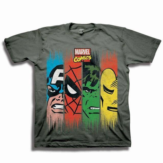 Camiseta Infantil Marvel Comic Panels Avengers