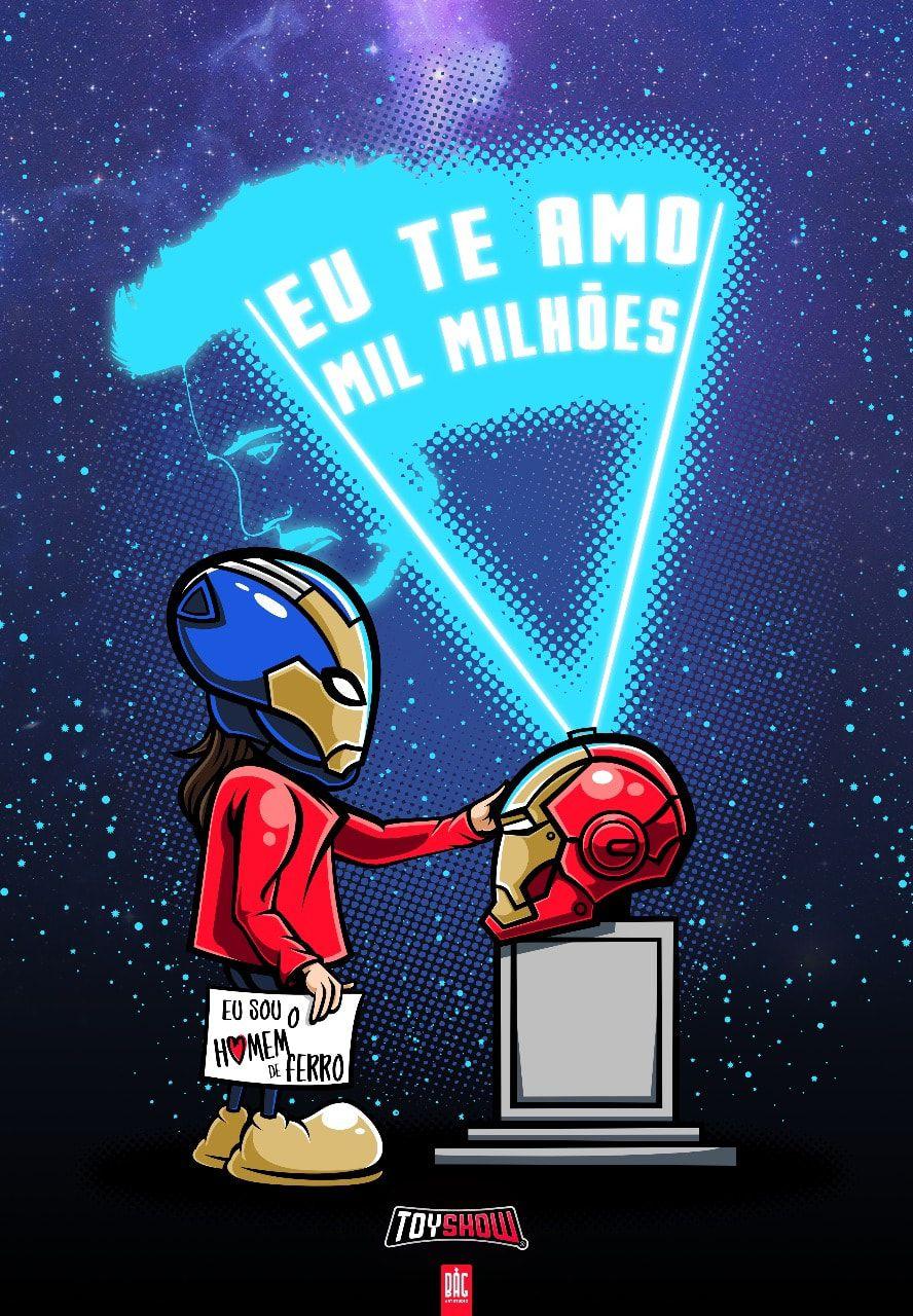 Camiseta Iron Man Eu Te Amo Mil Milhões - Exclusiva Toyshow