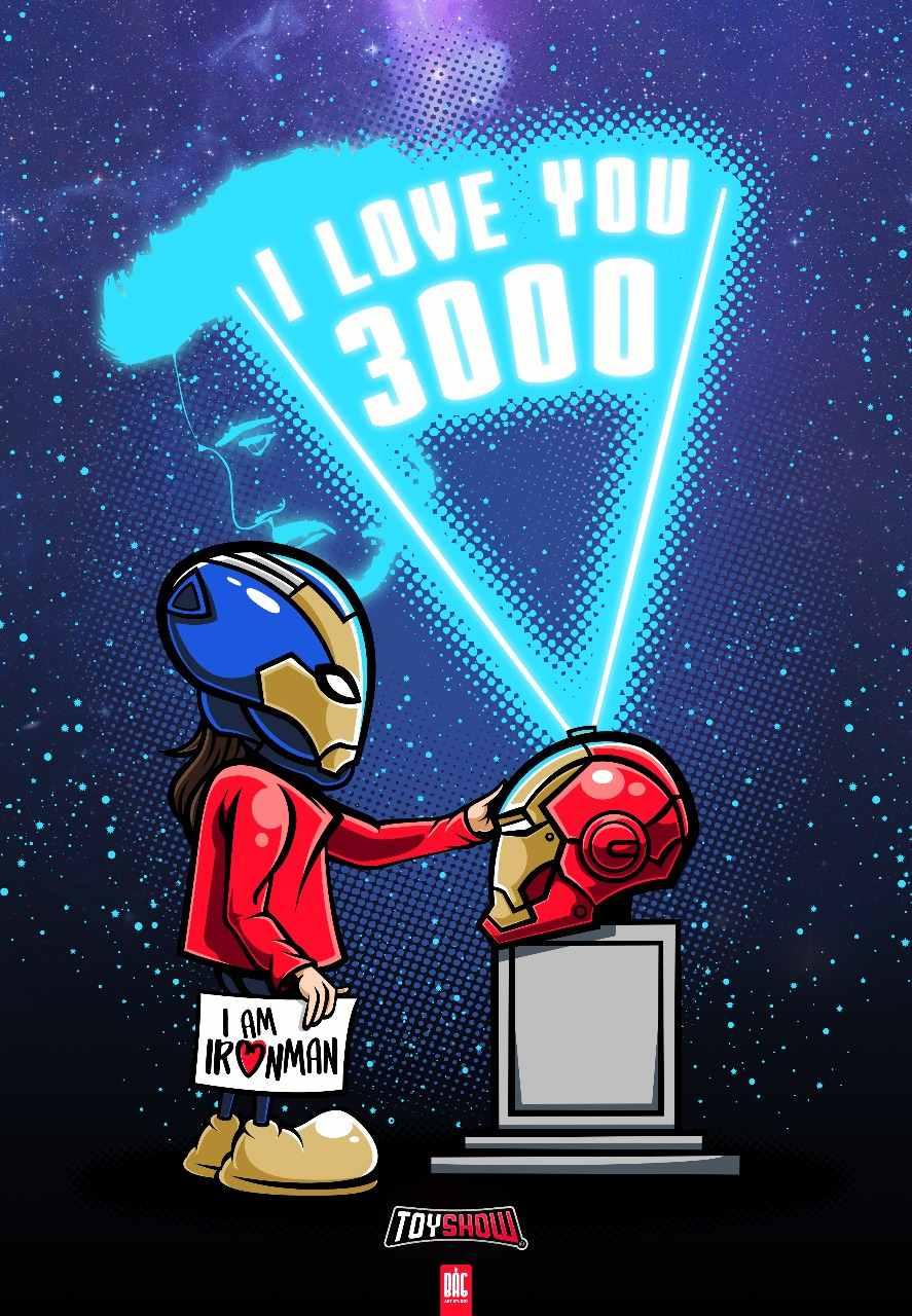 Camiseta Iron Man I Love 3000 - Exclusiva Toyshow