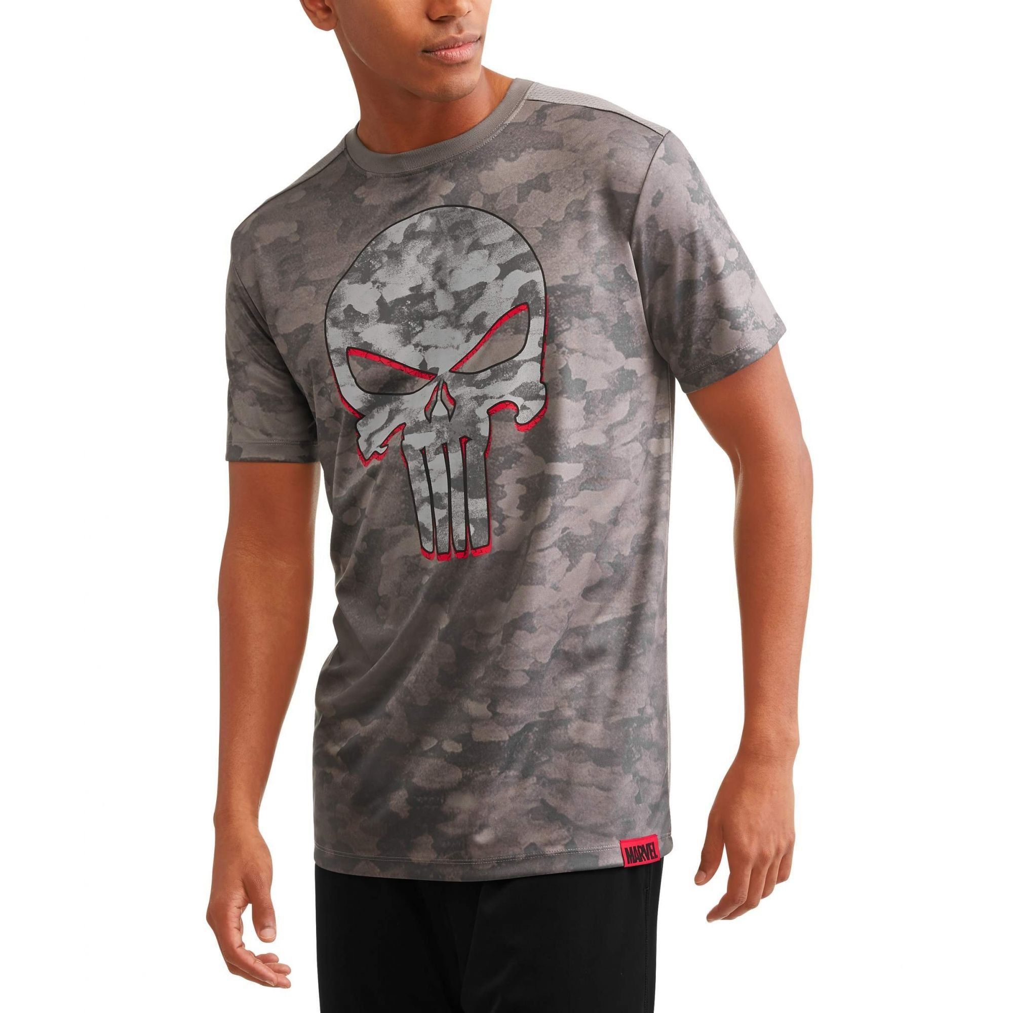 Camiseta Justiceiro (Punisher): Marvel (Cinza)