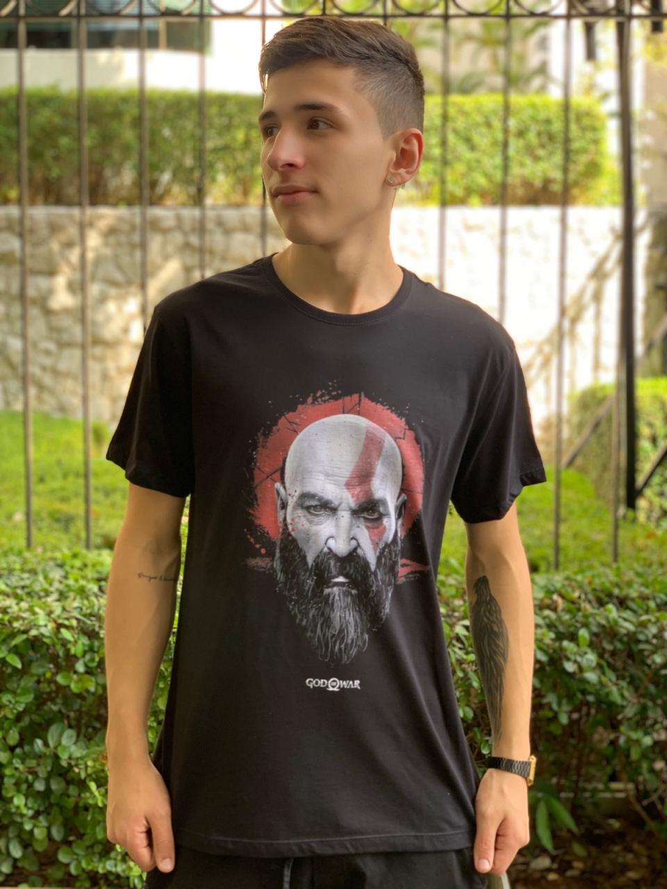 Camiseta Kratos - God Of War (Preto)