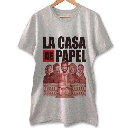 Camiseta La Casa de Papel (Cinza)