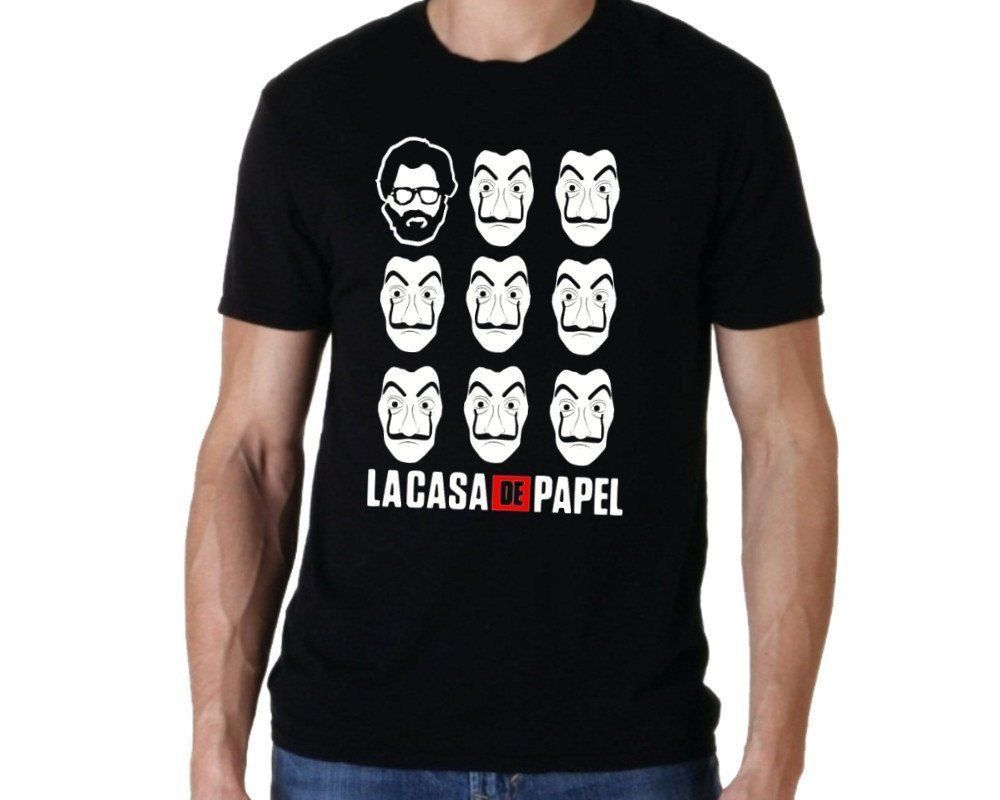 Camiseta La Casa de Papel (Preta)