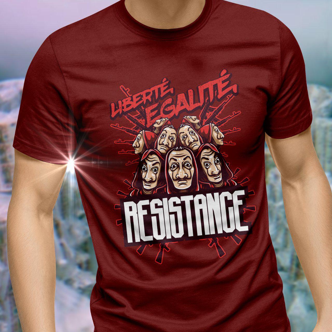 Camiseta Liberté Legalité Resistence: La Casa de Papel - Toy Show