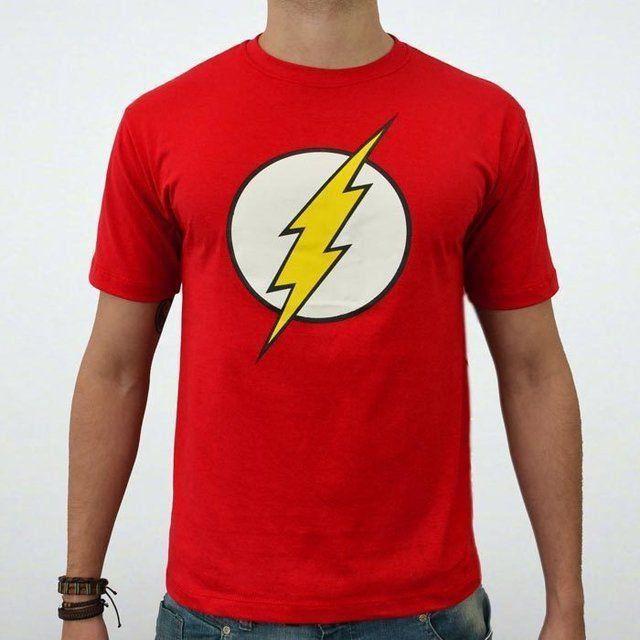 Camiseta Logo The Flash: DC (Vermelho)
