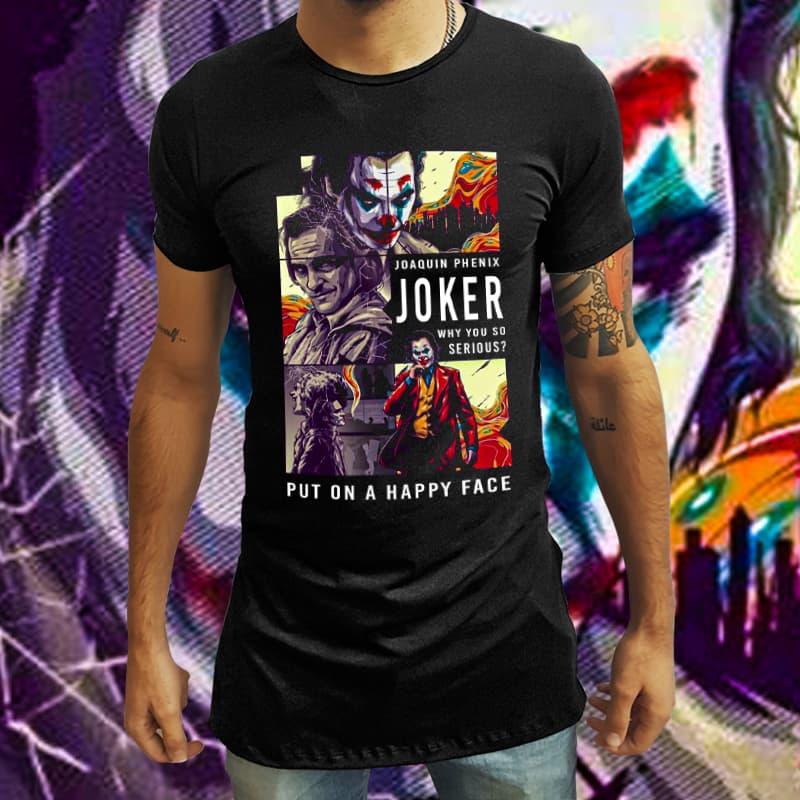 Camiseta Long Line Joker