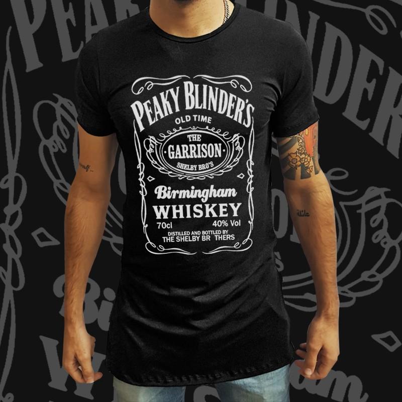 Camiseta Long Line Peaky Blinders x Jack Daniels - EV