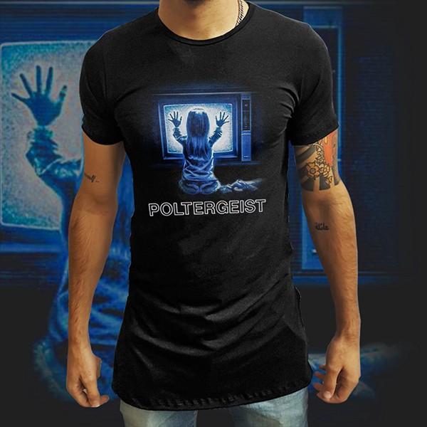 Camiseta Long Line Poltergeist - EV