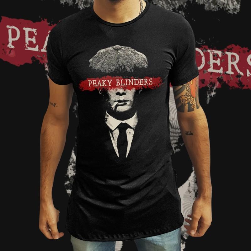 Camiseta Long Line Thomas Shelby - Peaky Blinders - EV