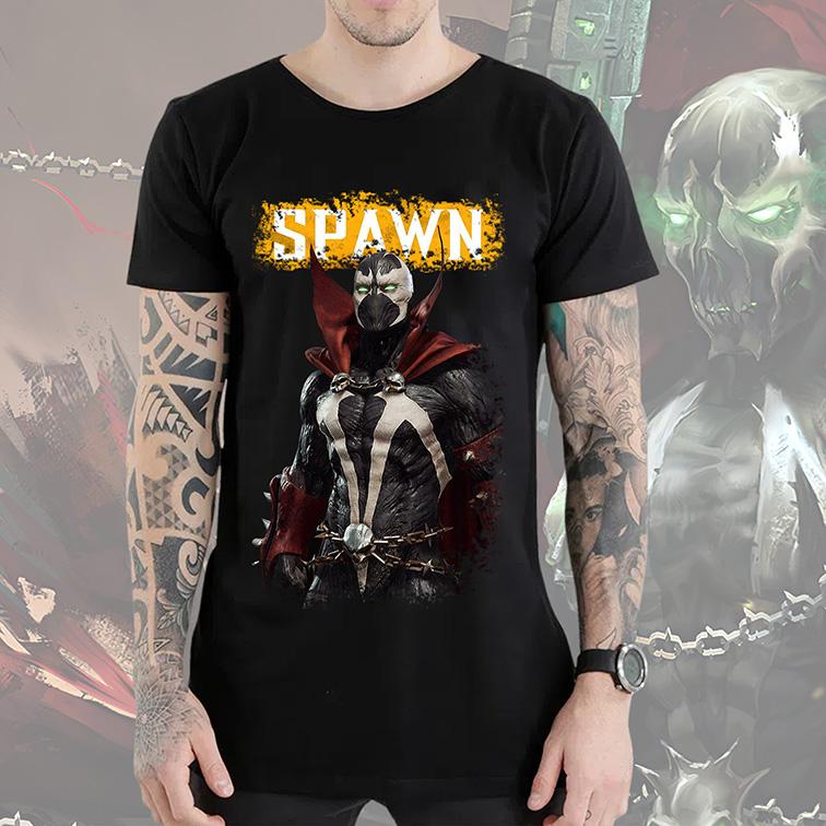 Camiseta Longline Spawn Soldier Of Hell: Spawn Mortal Kombat Wiki (Preta) - EV