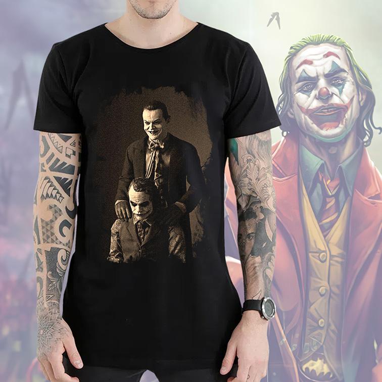 Camiseta Longline The Joker Like Father Like Son Jack Nicholson's: Coringa (Preta) - EV