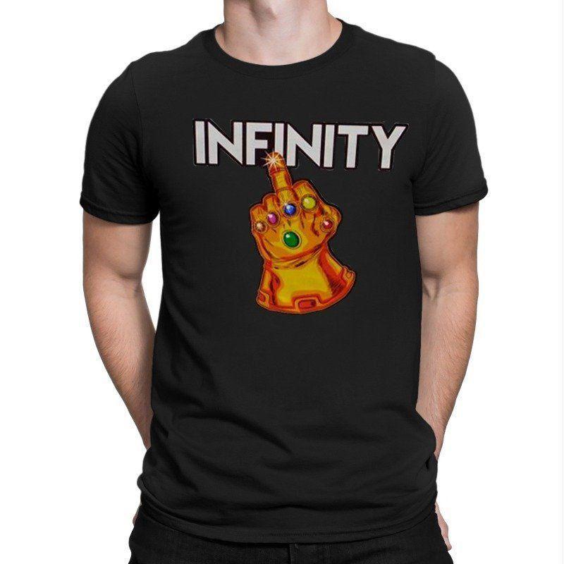 Camiseta Manopla do Infinito (Preto)