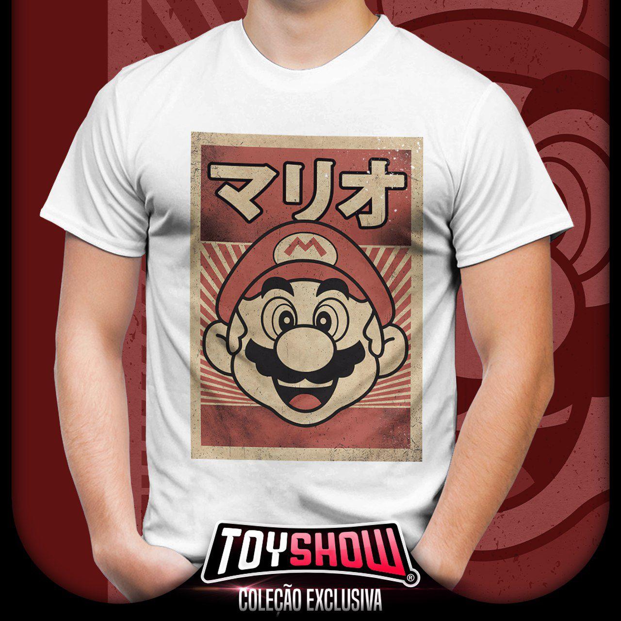 Camiseta Unissex Mario: Super Mario Bros (Branco)