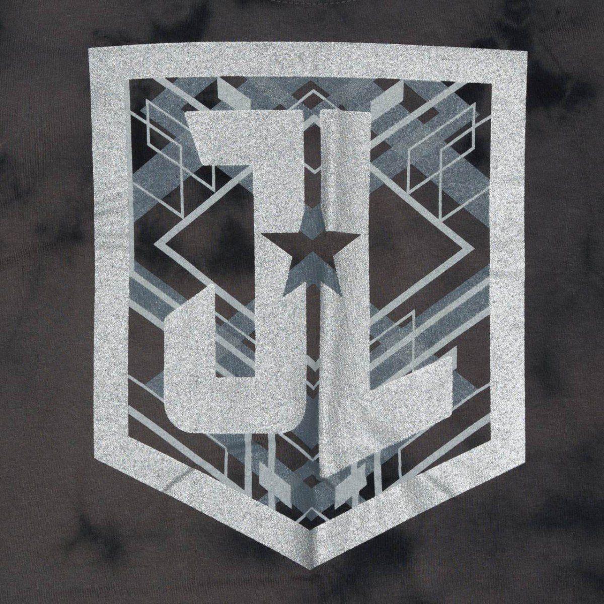 Camiseta Masculina Símbolo Liga da Justiça (Justice League) Chumbo