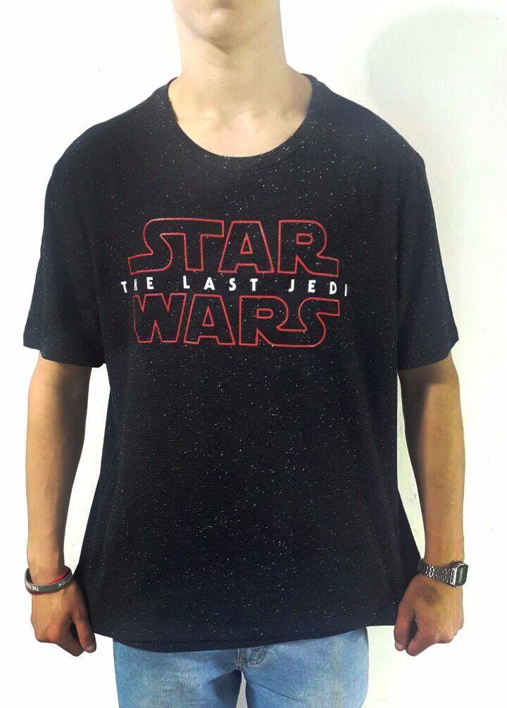 Camiseta Masculina Star Wars: Os Últimos Jedi (The Last Jedi) Preta