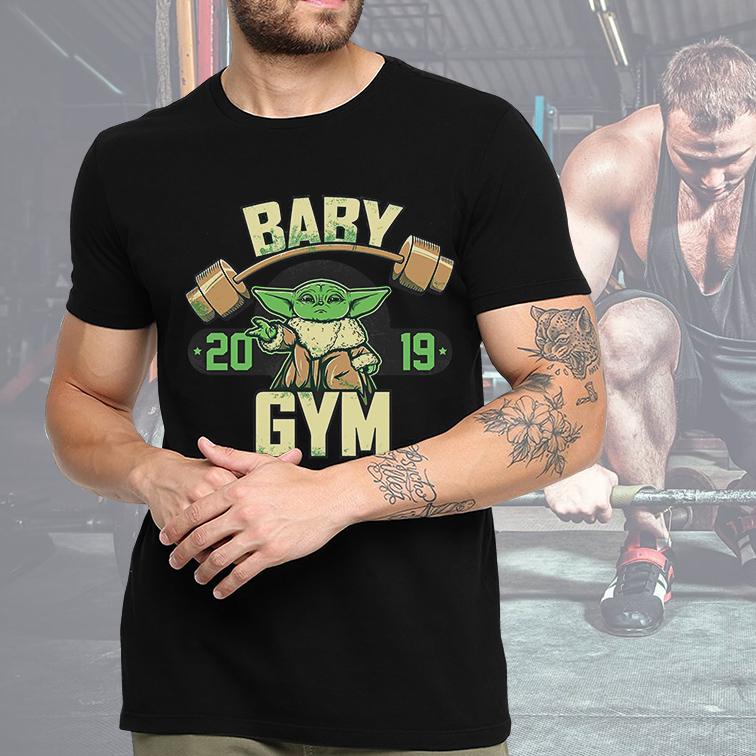 Camiseta Masculina Unissex Baby Yoda GYM Fitness: Star Wars (Preta) - EV
