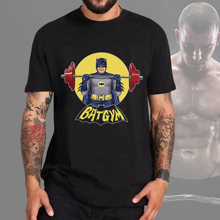 Camiseta Masculina Unissex BatGym: Batman (Preta) - EV