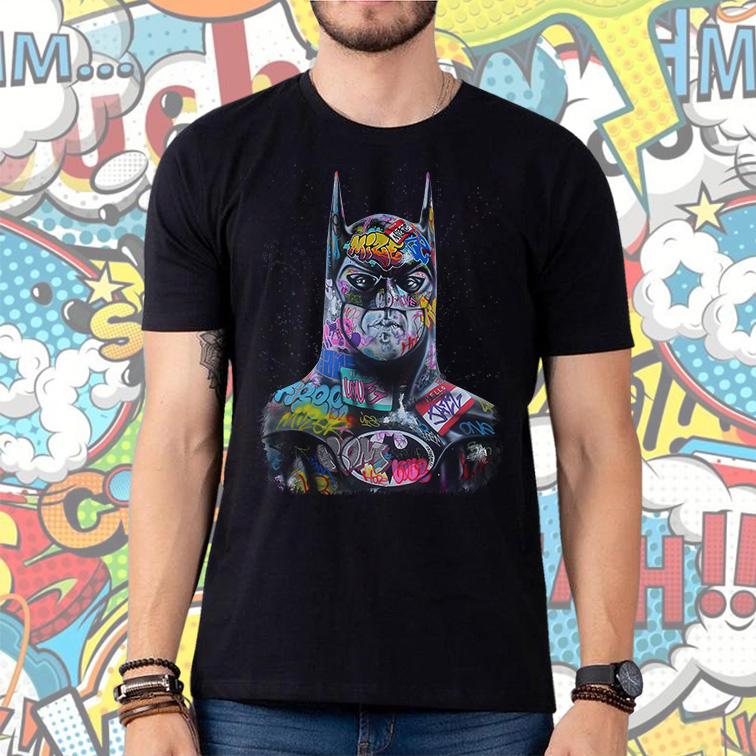 Camiseta Masculina Unissex Batman Art Cartoon Pop Graffitti (Preta) - EV