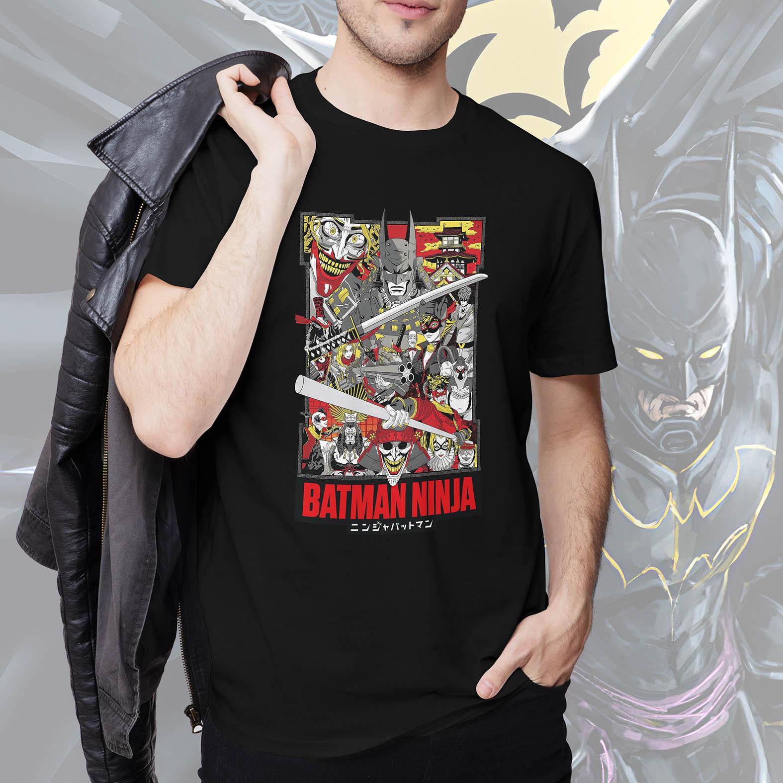 Camiseta Masculina Unissex Batman Ninja Poster (Preta) - EV