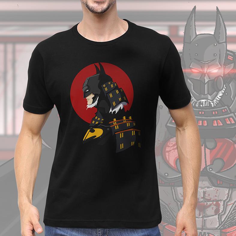 Camiseta Masculina Unissex Batman Ninja Samurai (Preta) - EV