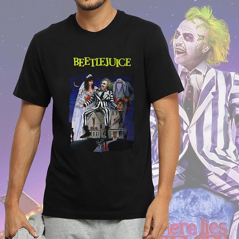 Camiseta Masculina Unissex Beetlejuice Os Fantasmas Se Divertem (Preta) - EV