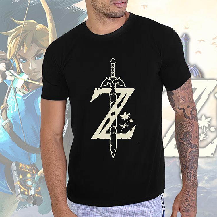 Camiseta Masculina Unissex Breath Of The Wild: The Legend Of Zelda (Preta) - EV