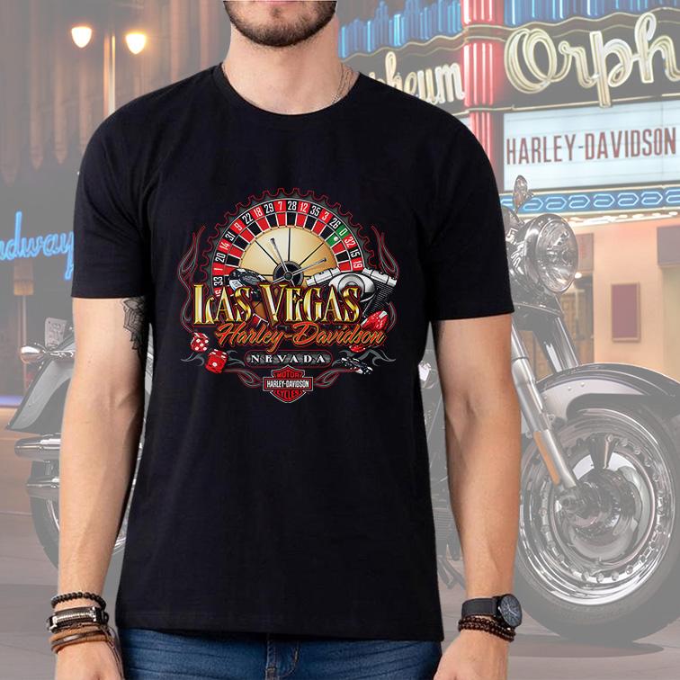 Camiseta Masculina Unissex Cassino Las Vegas Nevada: Harley Davidson Cycles (Preta) - EV