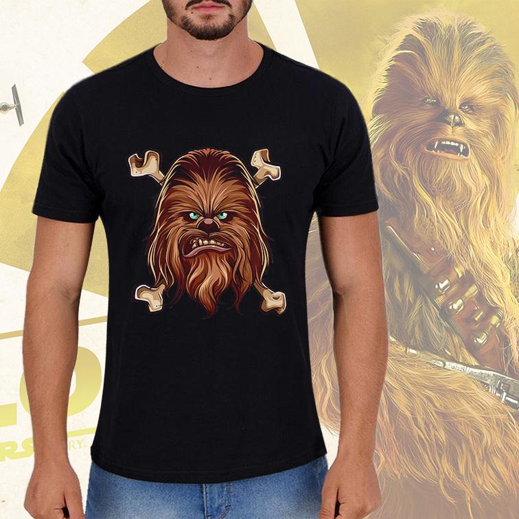 Camiseta Masculina Unissex Chewbacca Anakin Skywalker: Star Wars (Preta) - EV