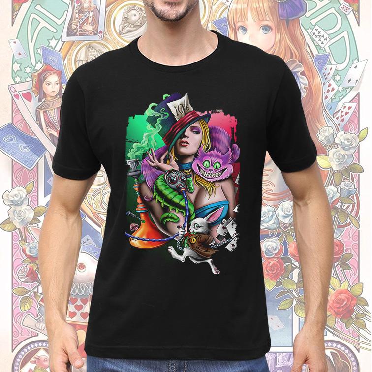 Camiseta Masculina Unissex Dark Alice in Wonderland Alice No País Das Maravilhas (Preta) - EV